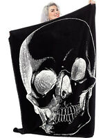 Sourpuss Skull Emo Punk Goth Rocker Anatomical Cover Throw Blanket SPHW127