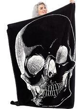 Sourpuss Skull Emo Punk Goth Rocker Anatomical Cover Throw Blanket SPHW127