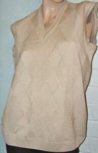 Esquire knit vest jumper M L wool blend New part tag work casual golf