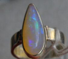 Brazil Crystal Opal 4 Karat 950er Silberring Größe 17,2 mm Unikat