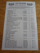 BRITISH LEYLAND 1100 & 1300 SPECIAL TUNING PRICE LIST BROCHURE
