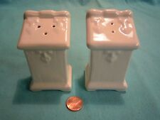 Vintage White Podium Lecturn Salt and Pepper Shakers Stoneware Metlox         46