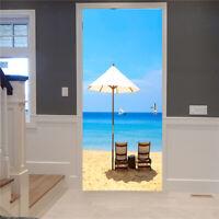 3D Door Wall Fridge Sticker Wrap Mural Scene Self Adhesive Home Decor Decal