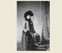 1880 Wyatt Earp Wife PHOTO Josephine Earp. OK Corral Sheriff Marshal Tombstone