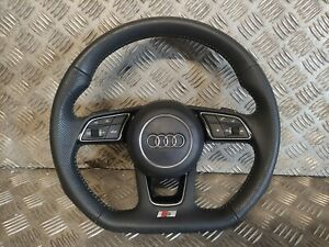 2016 - 2020 AUDI A3 S3 A1 A4 A5 A6 S-LINE FLAT BOTTOM STEERING WHEEL WITH AIRBAG