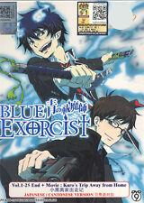 DVD Ao no Blue Exorcist Vol. 1 - 25 End  + Movie + 10 Special + Free 1 Anime