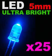 421# LED bleu 5mm 25pcs + résistance ---->8000mcd