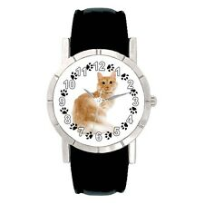 Turkish Angora Kitten Cat Mens Ladies Water Resistant Quartz Wrist Watch SA2736