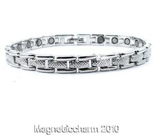 New arrivals! LADIES BIO MAGNETIC SILVER PLATED HEALING BRACELET FOR ARTHRITIS