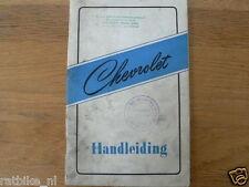 CHEVROLET HANDLEIDING PERSONENWAGENS  PERSONEN CA 1950