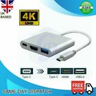 HDMI 4K Female USB Type-C 3in1 Adapter Cable for Samsung Apple Macbook HUAWEI