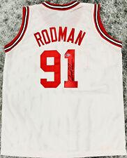 Chicago Bulls Dennis Rodman Signed White Jersey Auto - BAS Beckett 30d9bd9e7