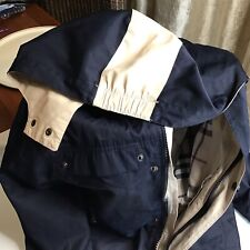 Burberry Navy Childs Raincoat with Hood Size 4 CHILDRENS CLOTHING RAIN JACKET