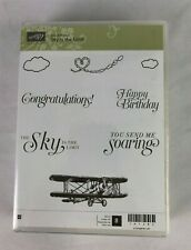 STAMPIN UP SKY IS THE LIMIT WOOD STAMP SET OF 8 STAMPS