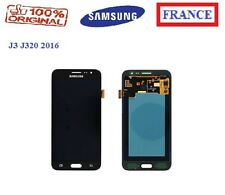 ECRAN COMPLET ORIGINAL VITRE TACTILE NOIR + LCD SAMSUNG J3 J320F J320FN 2016