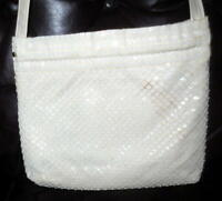 Vintage Lumuret White Plastic Mesh Shoulder Bag