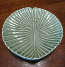 "Set of 4 OLFAIRE Lily Pad Leaf Shaped Desert Plates 6 7/8"" Diameter"