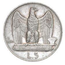 ITALIA Vittorio Emanuele III 5 Lire Aquilino 1930