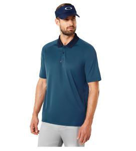 Oakley Hydrolix - RIBBED - Mens Polo Golf Shirt - ENSIGN BLUE - M Medium