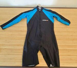 Henderson Aquatics Shorty Wet Suit Adult M, Blue and Black