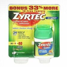 Zyrtec Allergy Relief 10 mg 40 Tablets