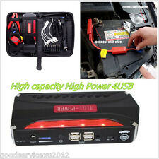Portable 12V 4-USB 3 Light 68000mAh Vehicle Jump Starter Power Emergency Battery