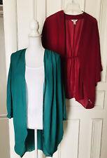 Lot Of 2 Open Front Kimono Top Size L 3/4 Sleeve Nymphe Arizona Jeans