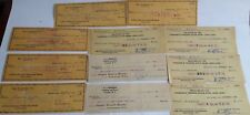 Collection of 16 Vintage USA Bank Cheques From 1927 - 1950s