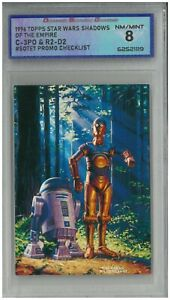 1996 Topps Star Wars Shadows of the Empire C-3PO & R2-D2 #SOTE7 💎 DSG 8 NM/MINT
