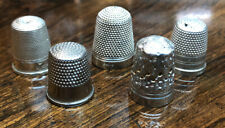 More details for sold silver & silver plate thimbles
