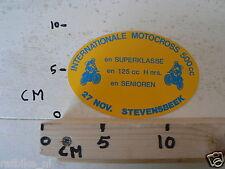 STICKER,DECAL STEVENSBEEK INT. MOTOCROSS 500CC 27 NOVEMBER, MX,SUPERKLASSE,125CC