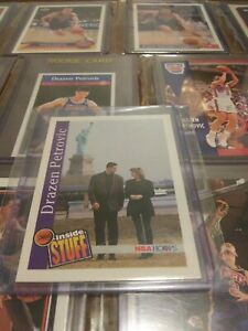 1992 Skybox DRAZEN PETROVIC #322🔥INSIDE STUFF💎SUPER RARE✅13 CARD LOT💎1/1 EBAY