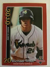 Mike Trout 2010 Minor League Cedar Rapids Kernels Rookie Card # 2 of 3 Red