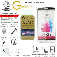 2 Pack LG G3 S Genuine Premium Gorilla Tempered Glass 9H Shield Screen Protector