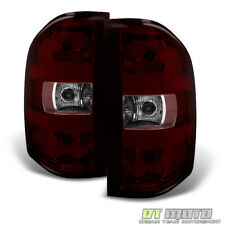 Red Smoked 2007-2013 Chevy Silverado GMC Sierra Tail Lights Lamps Set Left+Right