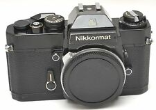 Nikkormat EL film SLR Camera Body Black good condition