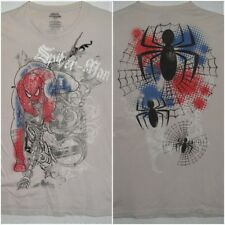 Marvel Extreme Two Sided Spiderman Artwork T Shirt Large