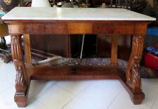 110501 Imponente console Restaurazione in noce e radica. Italia 1820