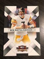 Ben Roethlisberger 2009 Donruss Threads Steelers Card #77  *171*