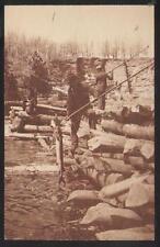 Postcard LOWER DELLS Wisconsin/WI  Trident Spear Fishing Sturgeons 1950's