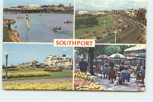 Postcard Southport SDC 30 Multiview 4 View Colour Printed Posted HA