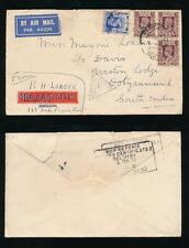 BURMA 1941 to INDIA WW2 CENSOR MOTOR AGENTS PRINTED ENVELOPE AIRMAIL