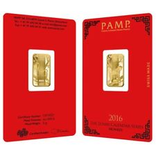 5 gram PAMP Suisse Year of the Monkey Gold Bar (In Assay)