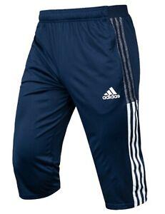 Adidas Men TIRO 21 Training 3/4 Shorts Pants Navy Casual Bottom GYM Pant GH4473