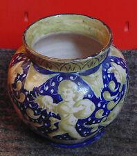 superbe ancien rare vase faience 19 EME décors chimères angelot ITALIE NEVERS