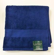 Ralph Lauren Luxury Bath Towel Greenwich Marine Blue 30x56