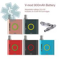 V mod 900mAh battery for thick oil cartridges includes 2x 0.5ml Amigo V9 Cart's