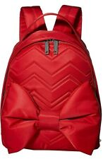 Betsey Johnson Red BOW Shoulder Strap Zipper Backpack  Red Big Bow