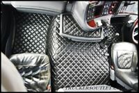 SCANIA 4 FLOOR SET LEATHERETTE IN BLACK [TRUCK PARTS & ACCESSORIES]