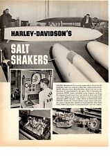 1964 HARLEY-DAVIDSON @ BONNEVILLE  ~  ORIGINAL 4-PAGE ARTICLE / AD
